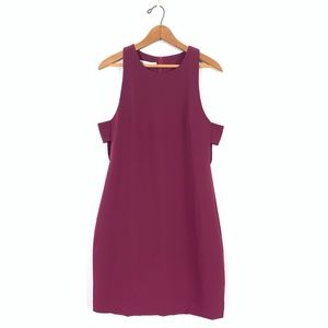 BISHOP + YOUNG S/L Stretch Knee-Length Shift Dress
